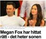Megan Fox vauvan nimi